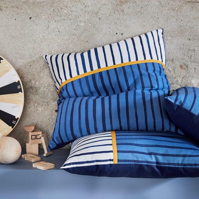 SÅNGLÄRKA cushion, $9.99 each.