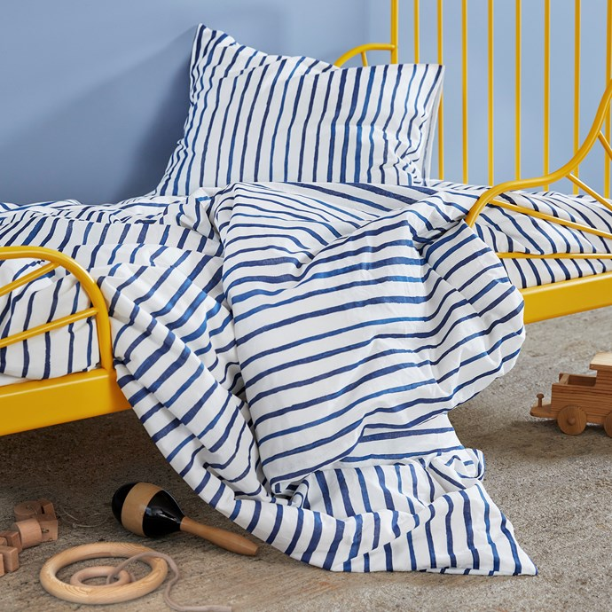 SÅNGLÄRKA Quilt cover and pillowcase, $19.99.