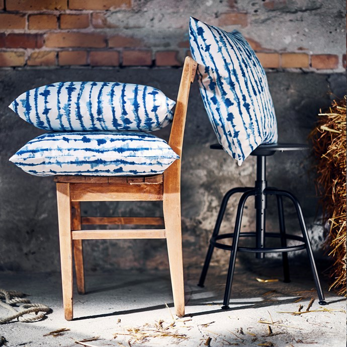 STRIMSPORRE cushion cover, $4.99 each.