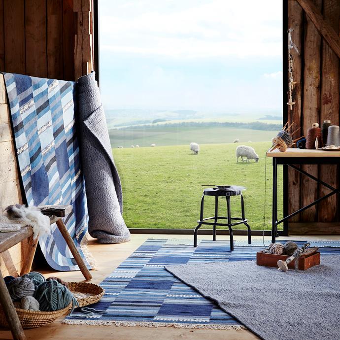 TRANGET rug, flatwoven $299 each. LOVRUP rug, flatwoven $199 each.