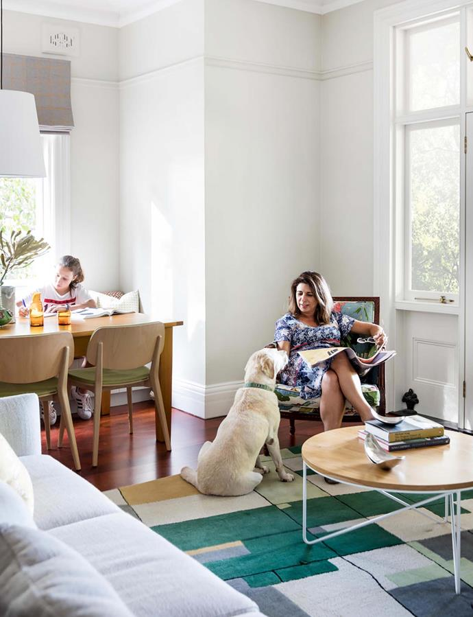 Lissa and Annabel make the most of the abundant natural light in this north-west facing space.