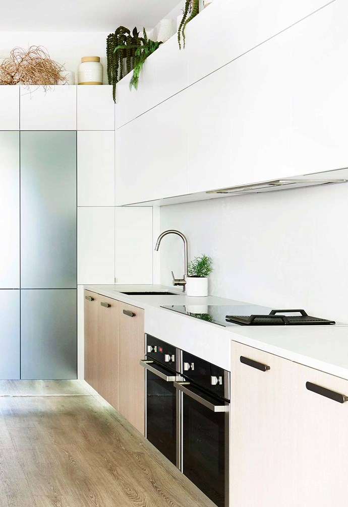 """In [Darren's kitchen](https://www.homestolove.com.au/darren-palmer-bondi-beach-kitchen-6422