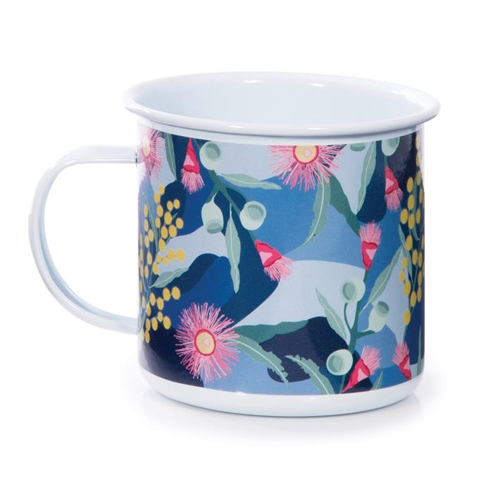 "'The Australian Collection' enamel **mug**, $15.95, from [Everten](https://fave.co/2DtPATX|target=""_blank""