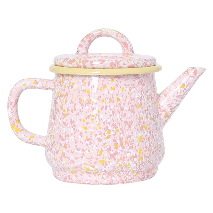 "'Strawberry bomb' enamel **teapot**, $59, from [Kip & Co](https://kipandco.com.au/strawberry-bomb-teapot.html|target=""_blank""|rel=""nofollow"")."