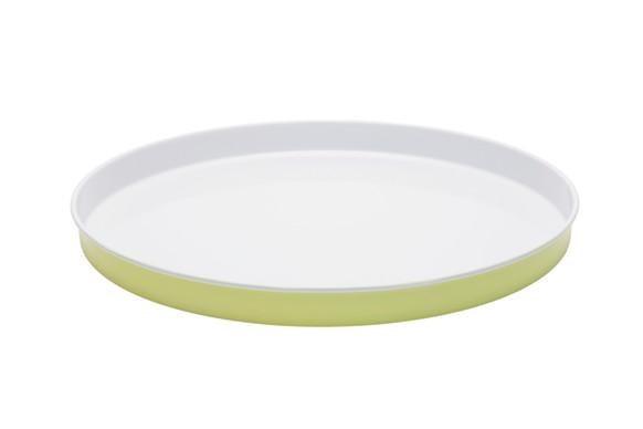 "Enamel **entertaining tray** in sunny lime and white, $24.95, from [Retro Kitchen](https://retrokitchen.com.au/collections/entertaining-1/products/enamel-entertaining-tray-sunny-lime-white|target=""_blank""|rel=""nofollow"")."