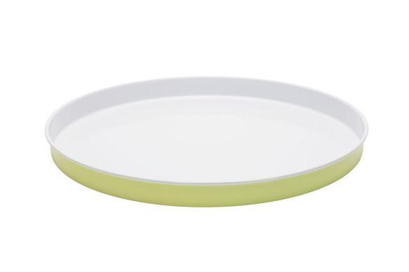 "Enamel **entertaining tray** in sunny lime and white, $24.95, from [Retro Kitchen](https://retrokitchen.com.au/collections/entertaining-1/products/enamel-entertaining-tray-sunny-lime-white|target=""_blank""