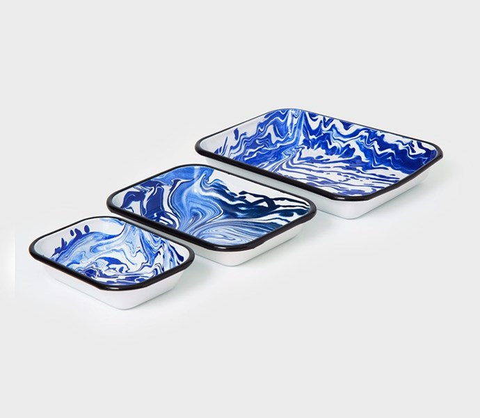 """Marbled **baking dishes**, from $50, at [Toast](https://www.toa.st/au/product/68lai/small+marbled+baking+dish.htm
