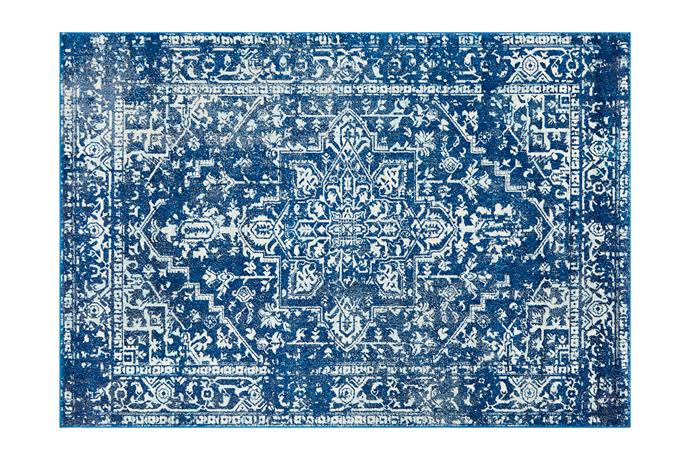 "**A rug** Anchor the space and set the tone with a patterned rug that looks like an antique from a far-off world. Network Rugs 'Art Moderne Cezanne' rug in Navy (2.3m x 1.6m), $199, [Temple & Webster](https://www.templeandwebster.com.au/|target=""_blank""
