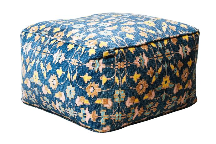 "**Finishing touch** An eye-catching print will add the perfect finishing touch to any magical space, while also providing comfy seating for lounging on. Indigo Love 'Fez' pouf, $240, [Few and Far](https://www.fewandfar.com.au/|target=""_blank""