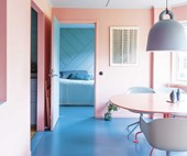 A pastel aesthetic revitalised this eclectic home