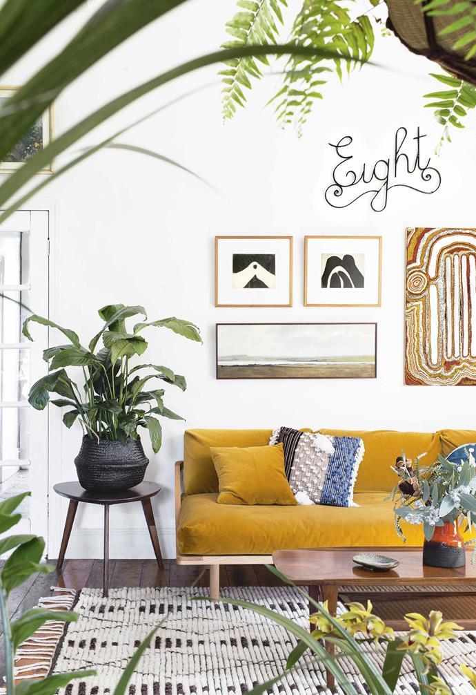 "*Styling: Jane Newey and Sam Clayton of [Hausfrau Interiors](https://www.hausfrauinteriors.com.au/|target=""_blank""|rel=""nofollow"") | Photography: Martina Gemmola | Artwork: Tommy Carroll, Marlene Juli and Jason Jones*."