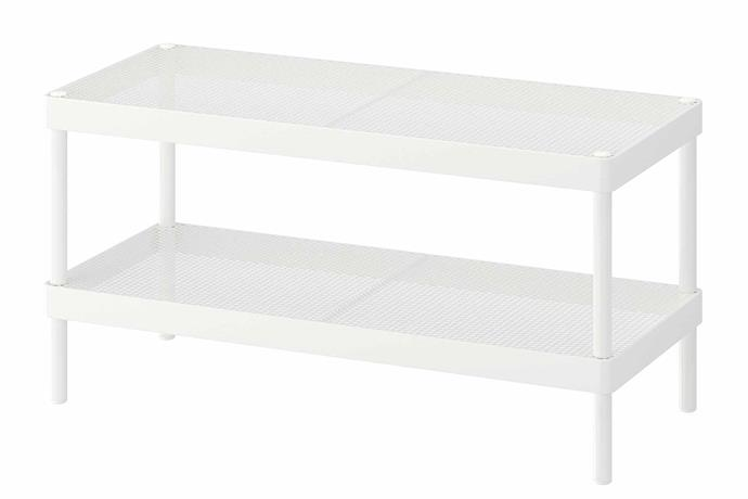 "The **MACKAPÄR** shoe rack is essential for your bedroom if you're looking to keep your shoes organise in one place while also keeping them close at hand. You can also stack one on top of the other if you're after more storage. MACKAPAR shoe rack, $24.99, [IKEA](https://www.ikea.com/au/en/|target=""_blank""