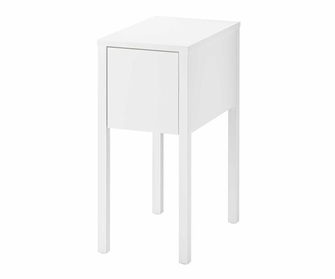 "The **NORDLI** bedside table is an effective and affordable storage solution as the removable drawer insert helps you organise all your small things. On top of that, you can run or your wires and cables through the back of the table to keep them out of sight. NORDLI bedside table, $129, [IKEA](https://www.ikea.com/au/en/|target=""_blank""