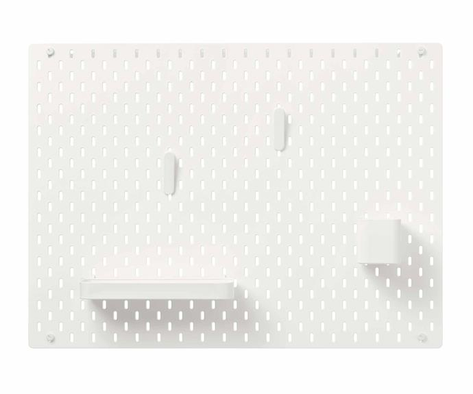 "**SKÅDIS** is a perfect solution if you're looking to provide a home for your everyday essential belongings while also keeping them on display and close at hand. SKÅDIS pegboard combination, $40, [IKEA](https://www.ikea.com/au/en/|target=""_blank""