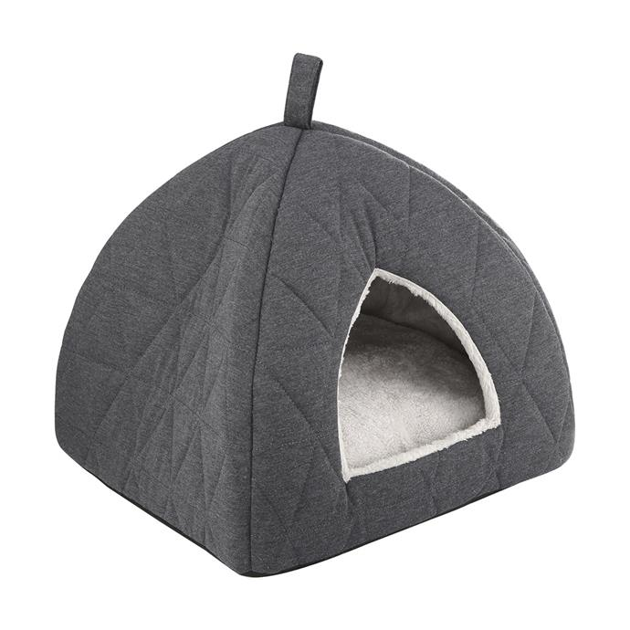 """Quilted [cat igloo](https://www.kmart.com.au/product/quilted-cat-igloo/1913835 target=""""_blank"""" rel=""""nofollow""""), $15."""