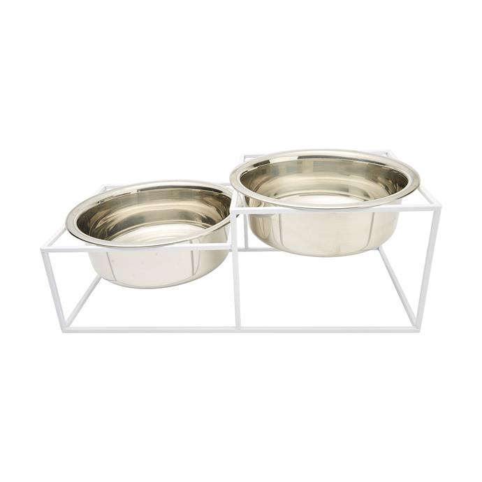 "Elevated [twin pet bowl](https://www.kmart.com.au/product/elevated-twin-pet-bowl/1618803|target=""_blank""
