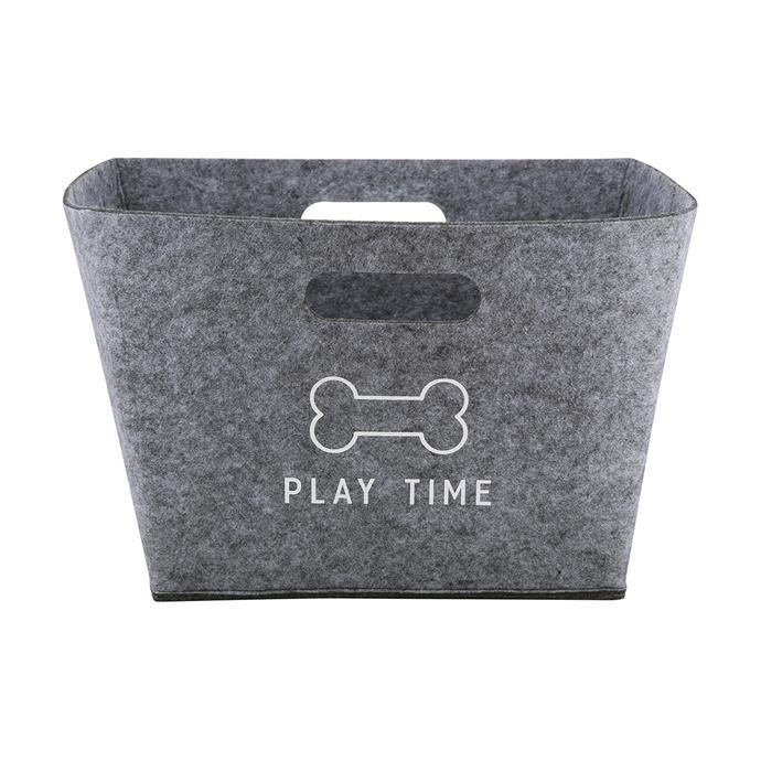 "Felt [pet toy basket](https://www.kmart.com.au/product/pet-toy-basket/2270804 target=""_blank"" rel=""nofollow""), $6."