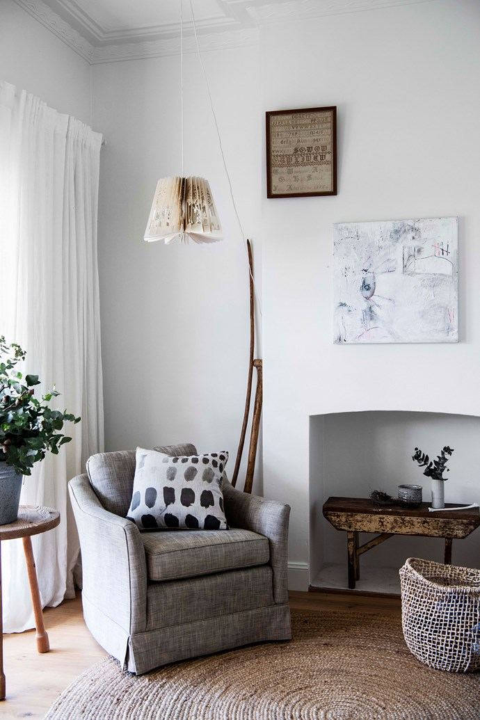 "An Artecnica 360 Light Deep Jungle lamp makes a statement above a [Bonnie and Neil](https://www.homestolove.com.au/meet-designer-bonnie-ashley-of-bonnie-and-neil-5727 target=""_blank"") Palette cushion and a woven basket."