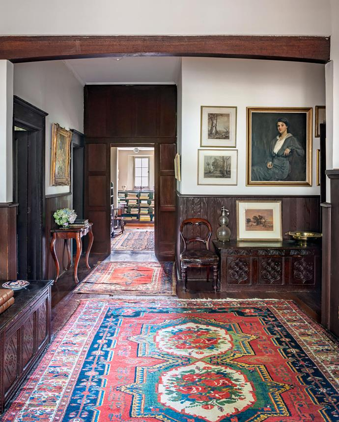 A portrait of Sallie Heysen by family friend Emanuel Phillips Fox hangs in the entrance hall.
