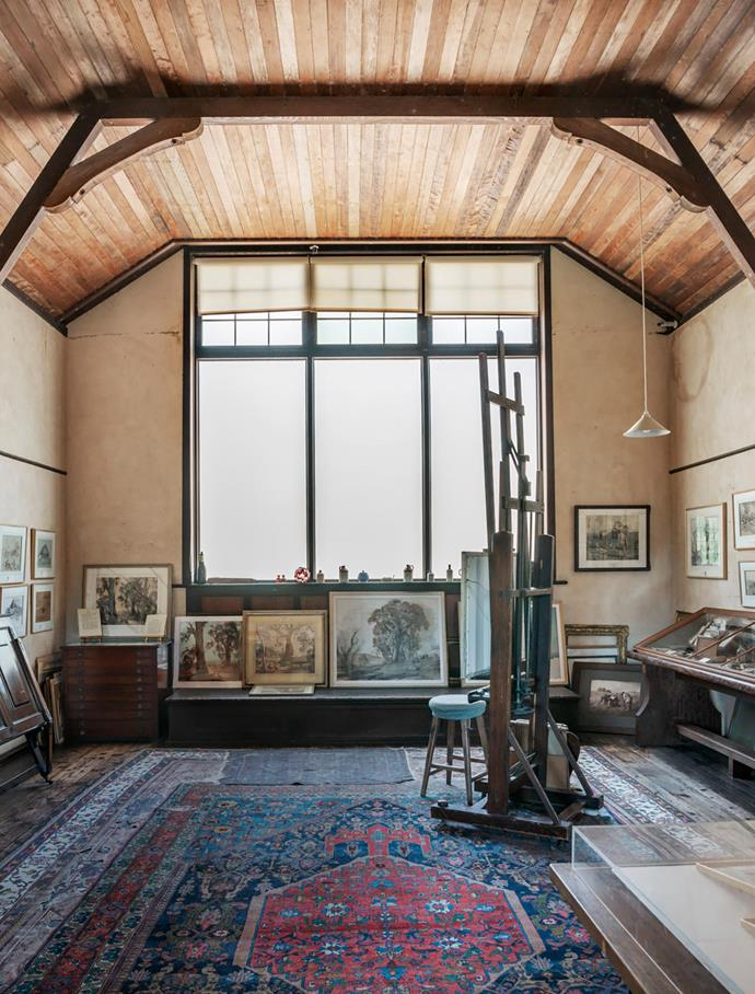 Hans Heysen's studio has a cathedral-like air.