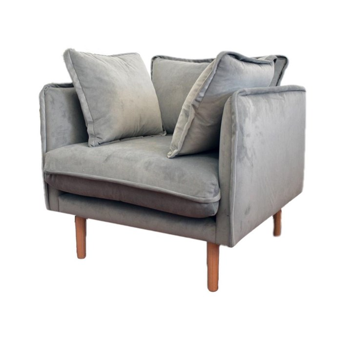 """The Norsu Occasional Chair, $1699, [Norsu Interiors](https://norsu.com.au/collections/carrie-bickmores-nursery/products/the-norsu-occasional-chair