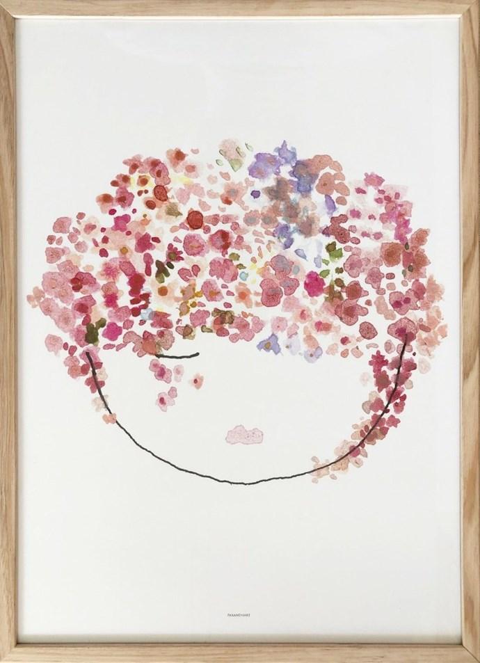 "Pax and Hart Velvet Print (exclusive to Norsu), $55, [Norsu Interiors](https://norsu.com.au/collections/carrie-bickmores-nursery/products/paxandhart-springprintexclusivetonorsu|target=""_blank""|rel=""nofollow"")"
