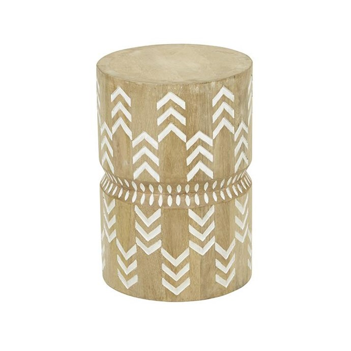 """Vionnet Arrow Stool, $635, [Norsu Interiors](https://norsu.com.au/collections/carrie-bickmores-nursery/products/vionnet-arrow-stool
