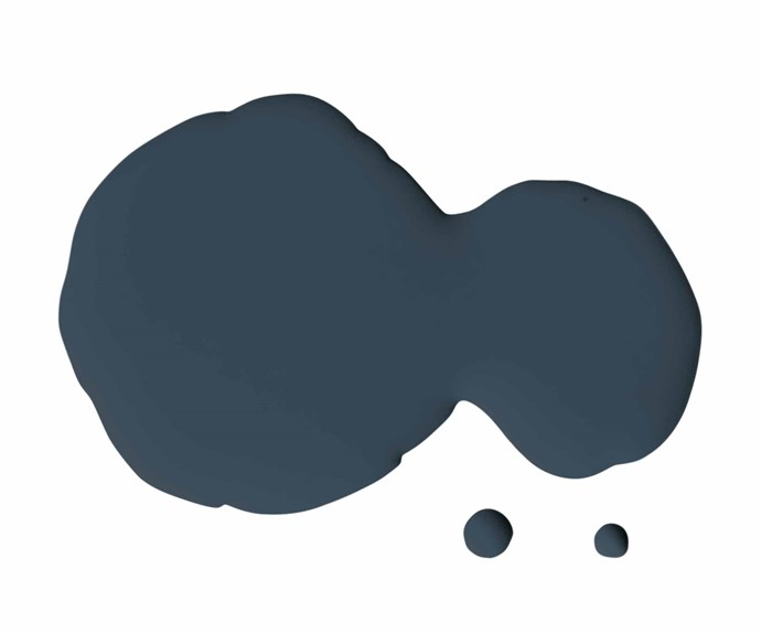 "Endure Interior low sheen paint in Night Blue, $89.40 for 4L, [Taubmans](https://www.taubmans.com.au/homeowners|target=""_blank""