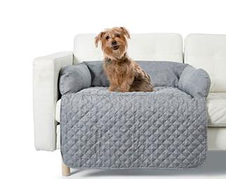 Kmart pet couch topper with dog