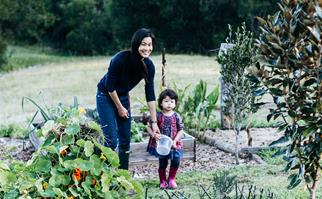 Mother and daughter on Sunshine Coast farm