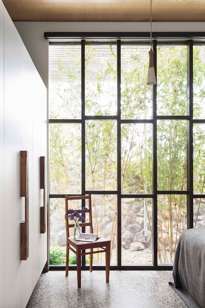 The window framing is a signature design of architectural firm Multiplicity and was stained in Black Japan from Feast Watson.