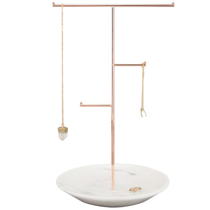 "Let your Mum display her favourite jeweller pieces in style with this **Concrete Jewellery Stand**, $68.95, from [Temple & Webster](https://www.templeandwebster.com.au/Concrete-Jewellery-Stand-JB93279-STCK1013.html|target=""_blank""