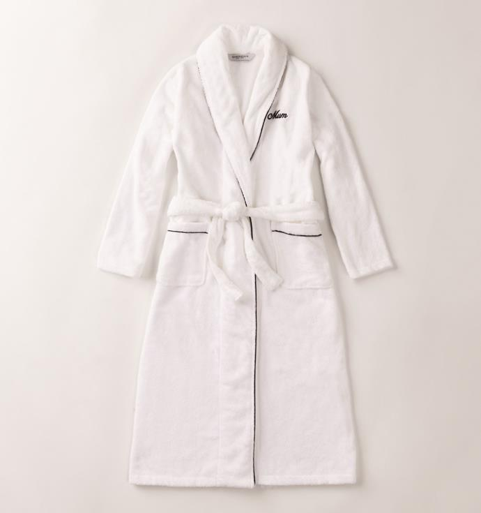 "Your mum will want to live in this luxurious and cosy **'Elissa' Womens Robe**, $149.95, from [Sheridan](https://www.sheridan.com.au/elissa-robe-sf07-b115-c243-001-white.html|target=""_blank""