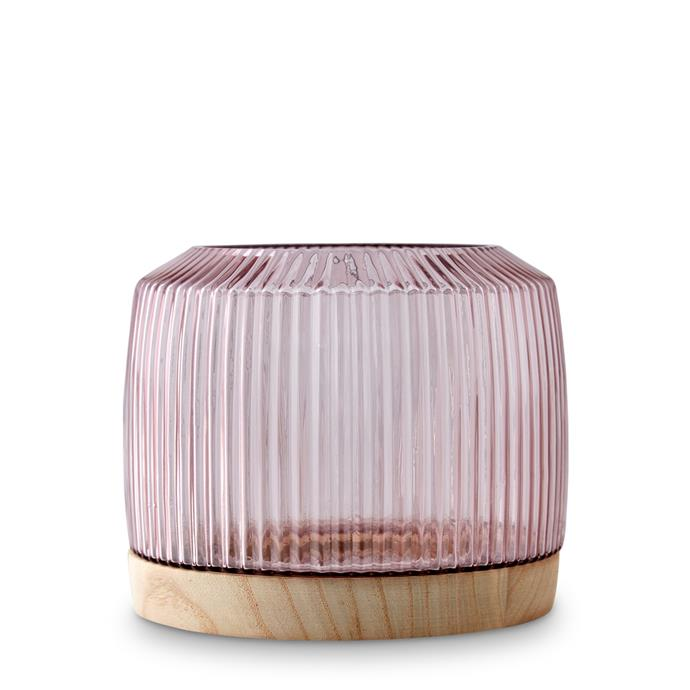 "Marmoset Found's 'Pleat Vase in Rose', $119, from [RJ Living](https://www.rjliving.com.au/buy-pleat-vase-rose-xl.html|target=""_blank""