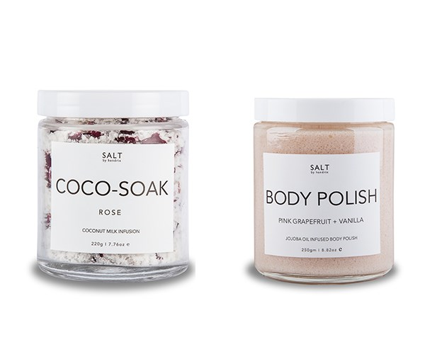 "Speaking of baths, the Rose Coco-Soak, $24.95, and Pink Grapefruit and Vanilla Body Polish, $39.95, from [Salt By Hendrix](https://saltbyhendrix.com.au/|target=""_blank""