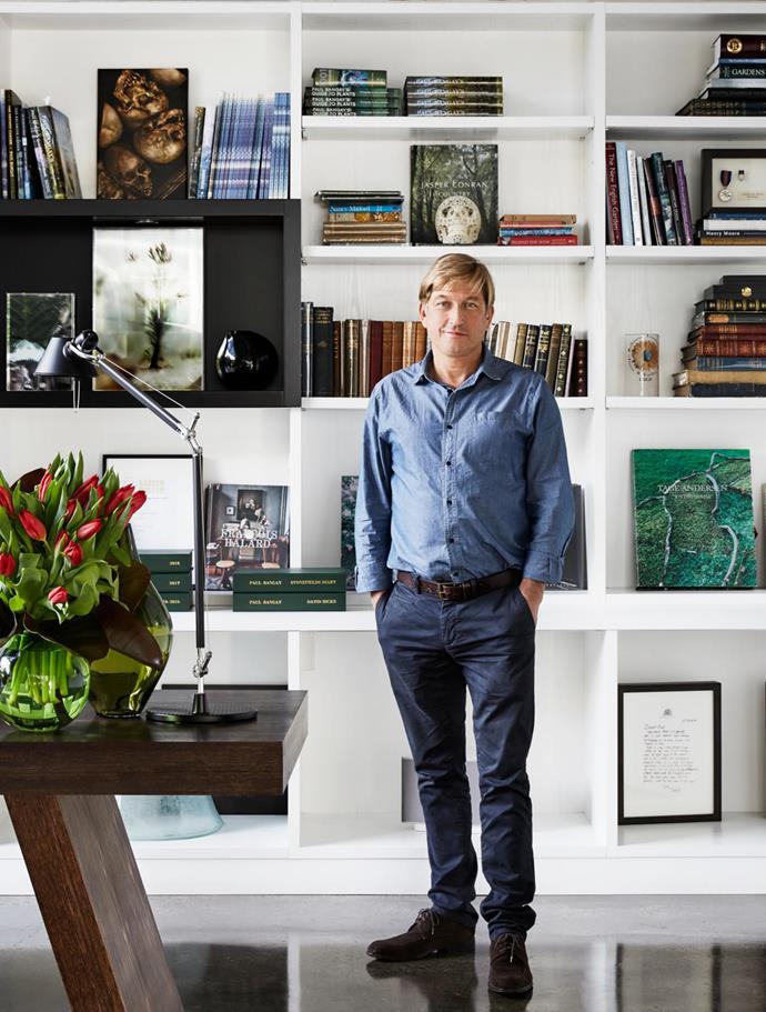 Paul Bangay in his studio space.
