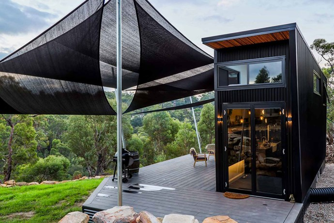"""The tiny home is set on a 16-acre property in the picturesque Blue Mountains. *Photo courtesy of: [Living Big in a Tiny House](https://www.livingbiginatinyhouse.com/