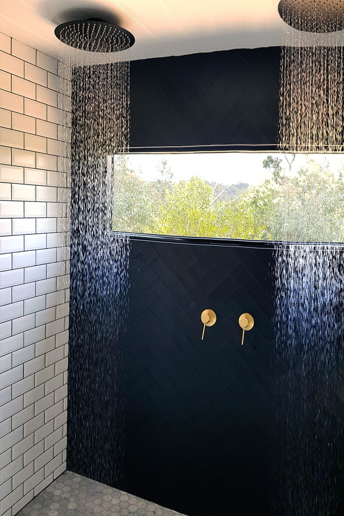 """Living in a tiny home doesn't mean sacrificing creature comforts. By revising their floorplan, Lisa and Matt were able to squeeze in a double shower. *Photo courtesy of: [Living Big in a Tiny House](https://www.livingbiginatinyhouse.com/