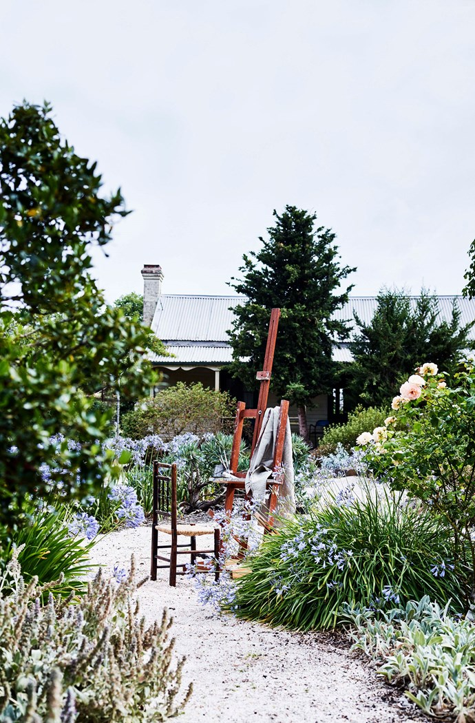 Sarah Beaumont has planted hardy perennials, agapanthus and David Austin roses in the garden.