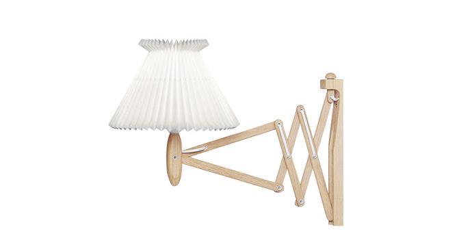 "Le Klint 'Sax' lamp in Light Oak, $793, at [Royal Design](https://www.leklint.com/en-GB/Products/Show-Product/LE-KLINT-224-6-17-Light-oak.aspx|target=""_blank""|rel=""nofollow"")"