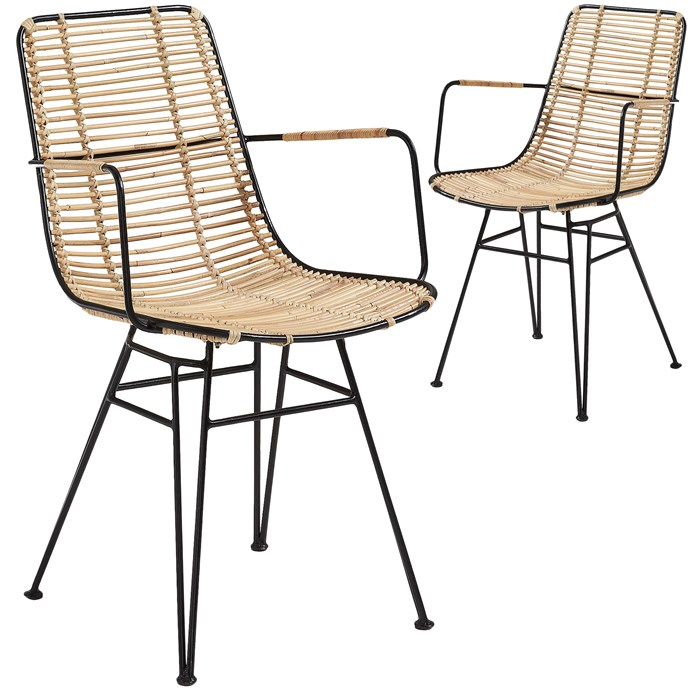 """Natural Jaafan Rattan Outdoor Armchairs (Set of 2) by Linea Furniture, $379, [Temple & webster](https://www.templeandwebster.com.au/Natural-Jaafan-Rattan-Outdoor-Armchair-C824E01-LAFO1435.html