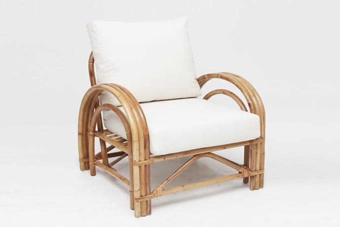 "Deco armchair in natural, $1199, [Naturally Cane](https://www.naturallycane.com.au/shop/shop-caribbean-colonial/deco-armchair/|target=""_blank""