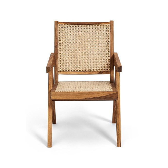 """Solid Timber Net Dining or Armchair, $599, [Harpers Project](https://www.harpersproject.com/collections/new-arrivals/products/solid-timber-net-dining-chair
