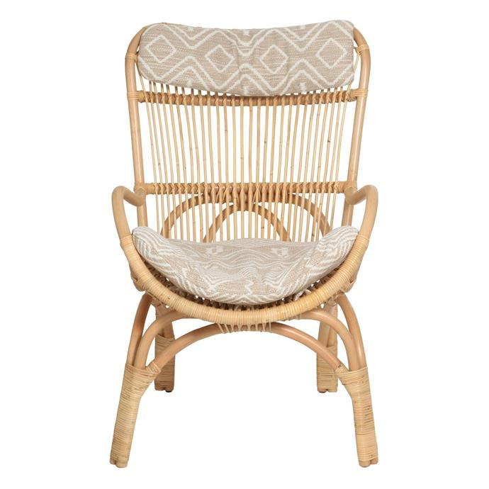"Slouch Chair in Natural, $495, [Family Love Tree](https://www.thefamilylovetree.com.au/slouch-chair-natural|target=""_blank""
