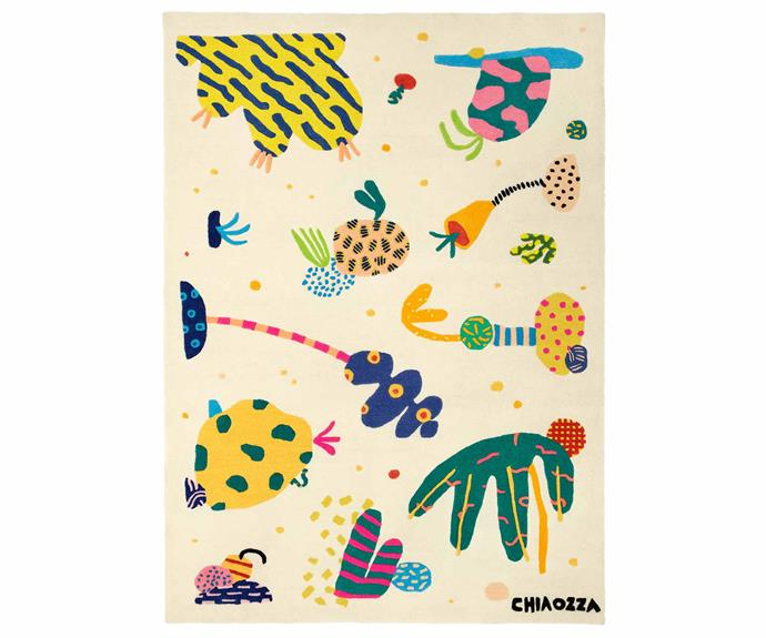 "Chiaozza, IKEA ART EVENT 2019 rug, $699, [IKEA](https://www.ikea.com/au/en/|target=""_blank""|rel=""nofollow"")."