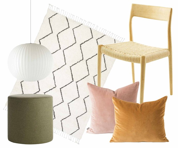 "**Mid-century bohemian** Stay close to nature with feel-good fibres and free-spirited forms from modern times. **Get the look** (clockwise from left) Nelson Ball Bubble lamp, $710 (small), [Living Edge](https://livingedge.com.au/|target=""_blank""