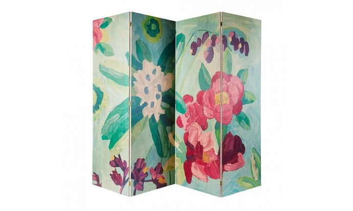 """Floral Oil Painting Timber Screen, $2,400, at [Bonnie and Neil](https://www.bonnieandneil.com.au/product/floral-oil-painting-timber-screen/
