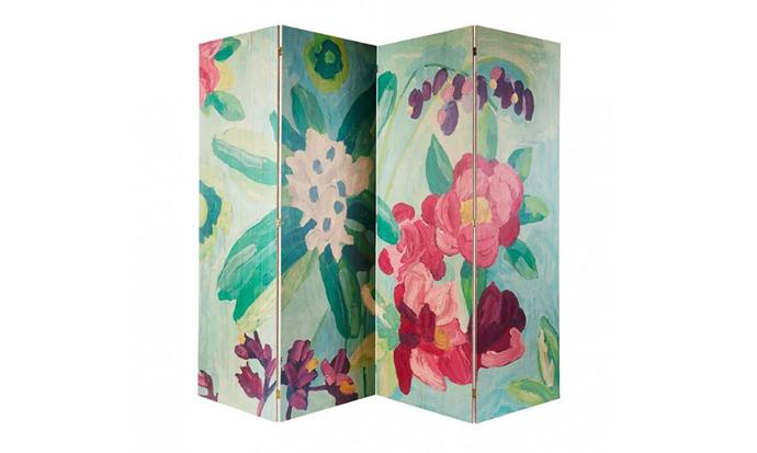 """Floral Oil Painting Timber Screen, $2,400, at [Bonnie and Neil](https://www.bonnieandneil.com.au/product/floral-oil-painting-timber-screen/ target=""""_blank"""" rel=""""nofollow"""")"""