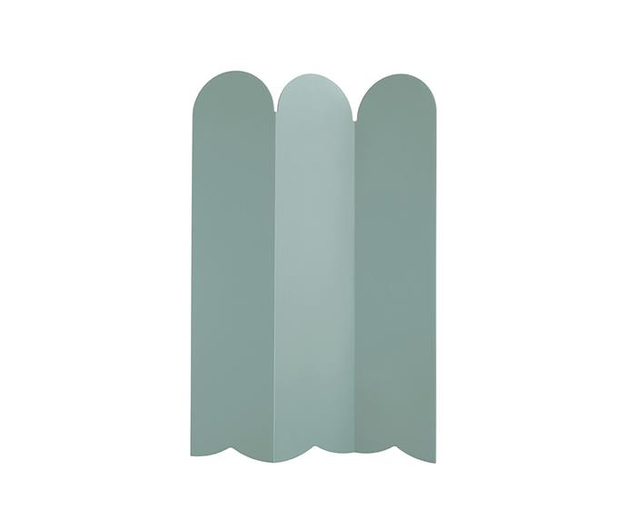 """'Picket' 80%-recycled HDPE plastic indoor and outdoor room divider in Sage, $1195, at [Design By Them](https://www.designbythem.com/products/picket-room-divider?variant=7824669868060 target=""""_blank"""" rel=""""nofollow"""")"""