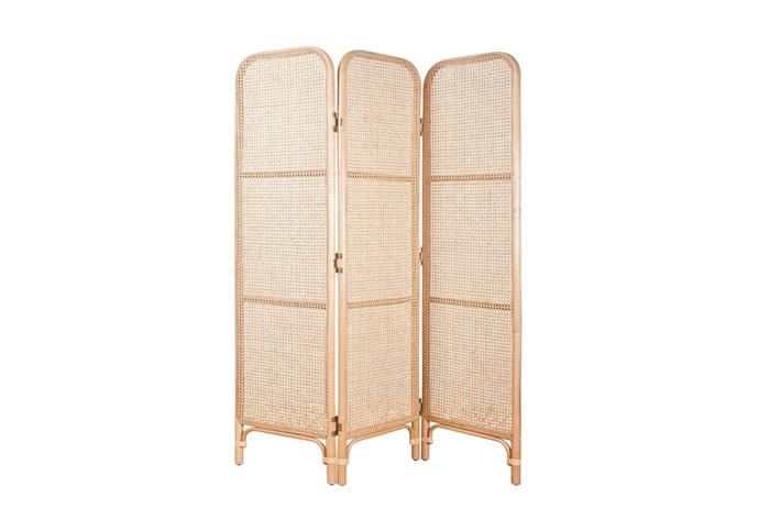 "Latitude' rattan screen in Natural, $695, at [The Family Love Tree](https://www.thefamilylovetree.com.au/latitude-screen-natural|target=""_blank""